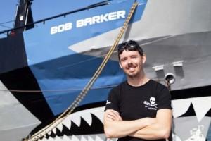 el capitán Hammarstedt del Bob Barker