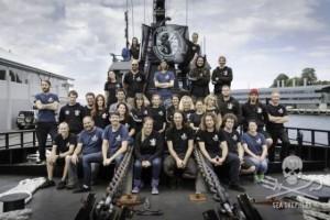 Parte del equipo de Sea Shepherd