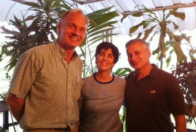 Thomas Obermuller, Marisela Valero y Alberto Herrera, Foto de Nidia Hernandez