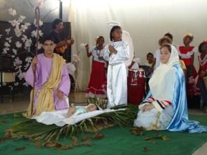 Dan posada y nace el Niño Dios. Foto Juan Ramón Colina