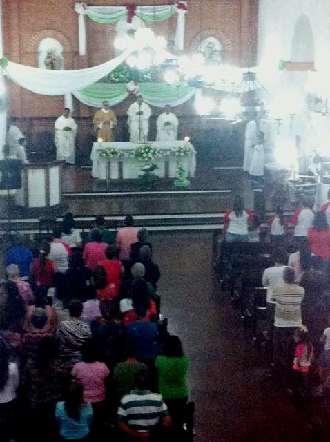 Misa en honor a San Juan Evangelista. Foto Marisela Valero