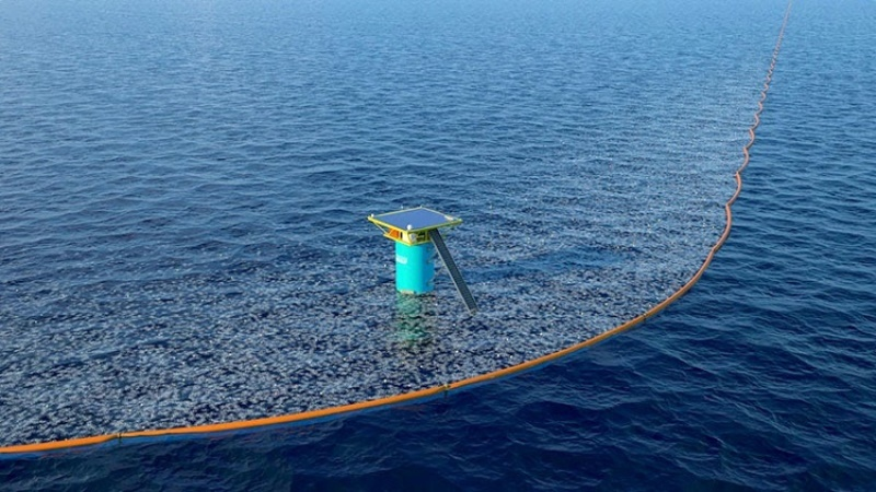 The Ocean Cleanup. Foto Ocean Cleanup Project