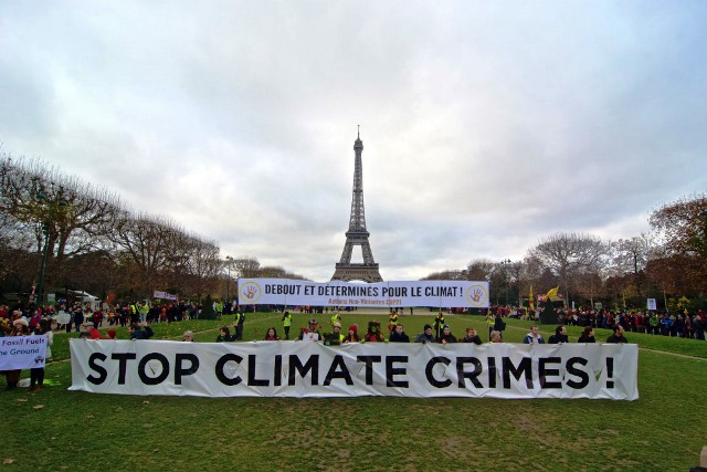 Stop Climate Chaos trip to Paris