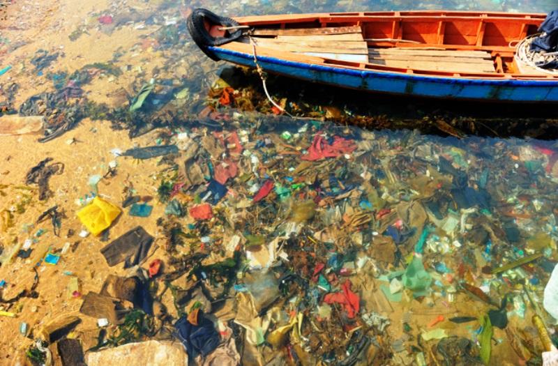 Basura plástica contaminante. Foto Ocean Cleanup