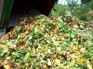 Camiones de basura descargan toneladas de alimentos en vertederos