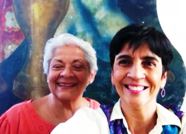 Aura Sofía Díaz con Marisela Valero