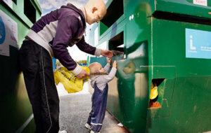 Desde la primera infancia se enseña la clasificación de desechos
