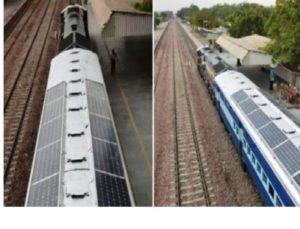 India ya tiene trenes con techo solar o impulsados por energía eólica
