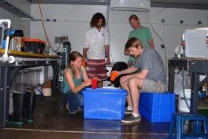Adriana con sus compañeros de investigación en Australia