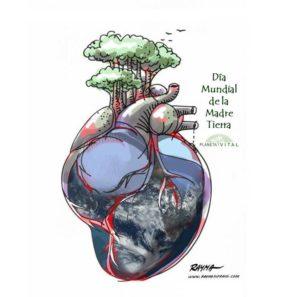 Desde Planeta Vital honramos a nuestra Madre Tierra todos los días. Foto creación de RAYMA
