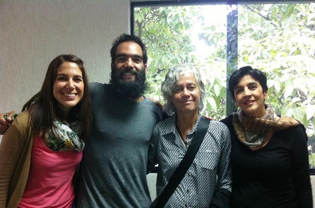 De izquierda a derecha Mayte Arrieta, Angel Zambrano, Mariela Ramírez y Marisela Valero.