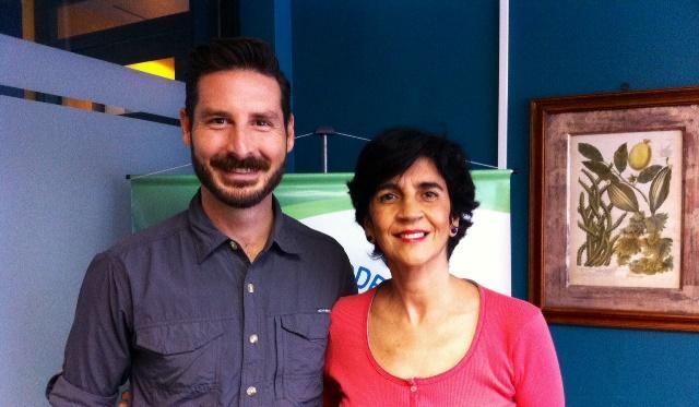 Guillermo Garcia con Marisela Valero. Foto Nidia Hernández