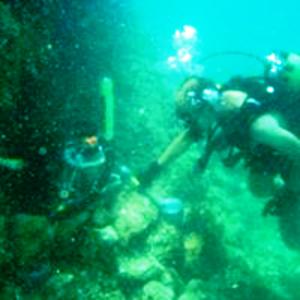Buscando muestras de sedimentos