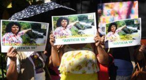 Honduras protesta por el asesinato de Berta Cáceres