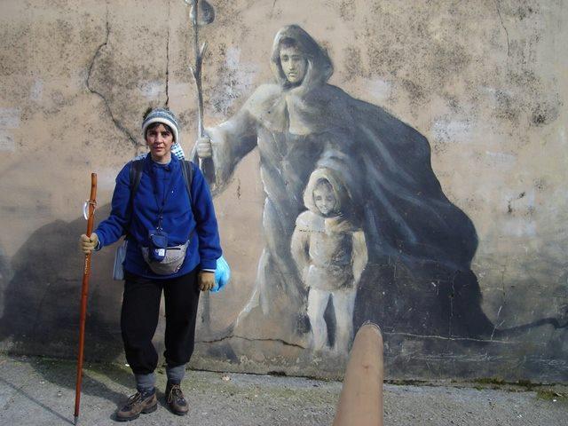 Marisela Valero en el Camino de Santiago