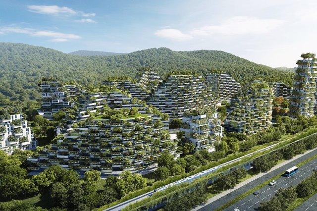 Bosques-rascacielos, diseñados por el arquitecto italiano Stefano Boeri.