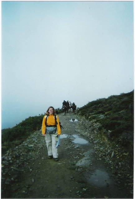Astrid en el Camino de Santiago