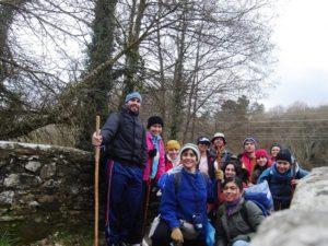Marisela Valero y su grupo de amigos en El Camino de Santiago
