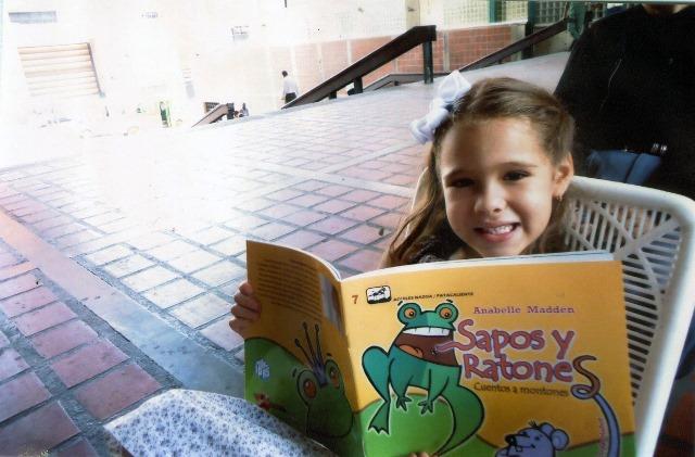 Los niños son su inspiración y principales lectores. Foto cortesía Anabelle Madden