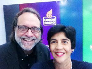 Tony Medina con Marisela Valero en Unión Radio