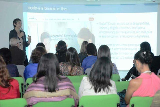 Gina Biasini Coordinadora Proyectos de Fundación Telefónica ejecutados por Opportúnitas (AFT en escuelas y hospitales, Salas Digitales Movistar, Profuturo).