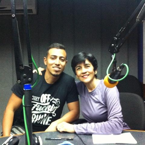 Gustavo Terrarium y Marisela Valero en el estudio. Foto Fernando Camacho
