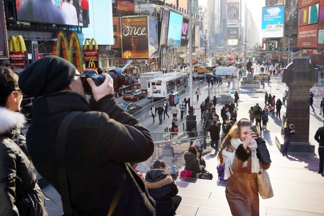 New York atiborrado de turistas