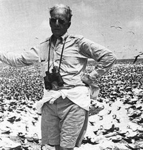 William H. Phelps en sus expediciones. Foto cortesía Fudación William H. Phelps