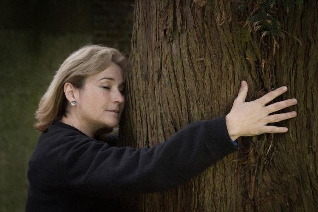 Abrazar un árbol es vivificante