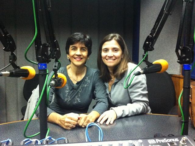 Andreína Ramírez junto a Marisela Valero en el estudio. Foto Fernando Camacho