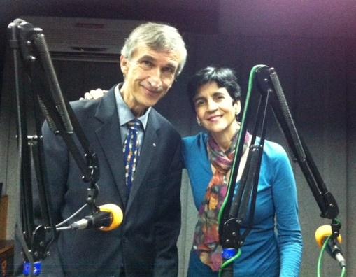 José Bernardo Guevara y Marisela Valero en el estudio. Foto Fernando Camacho